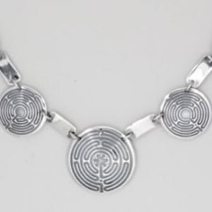 Sterling Silver Santa Rosa Labyrinth Necklace
