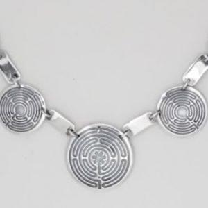 Sterling Silver Santa Rosa Labyrinth Necklace
